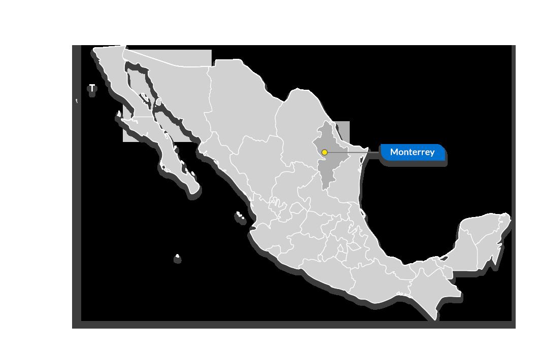 Monterrey map - tetakawi