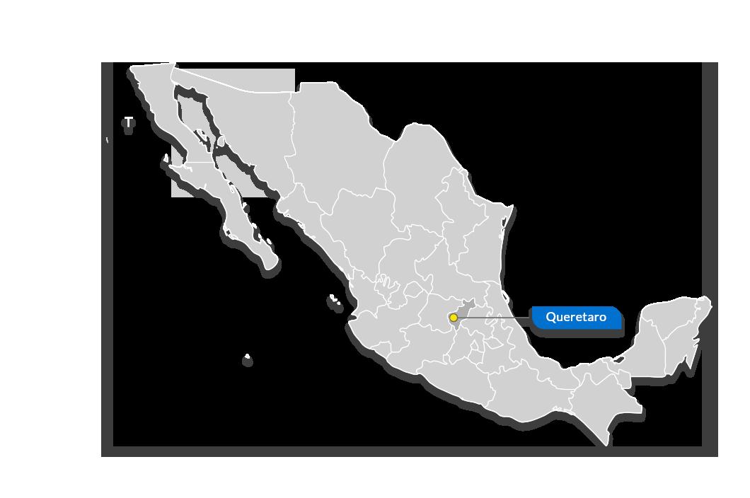 Karte von Querétaro – Tetakawi